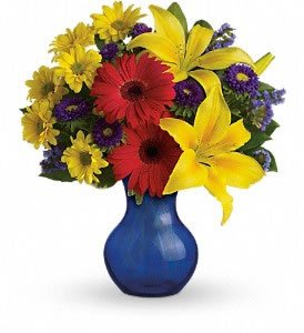 fall vase of flowers