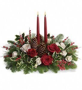 Two candled centerpiece
