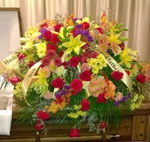 Multi-Colored Funeral Spray