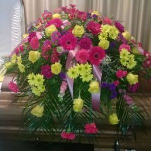 Rose & Gerbera Mixed Casket Spray