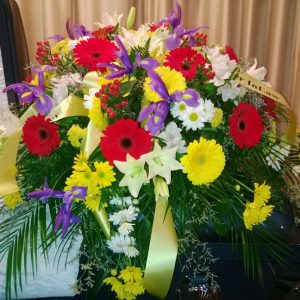 Gerbera casket spray