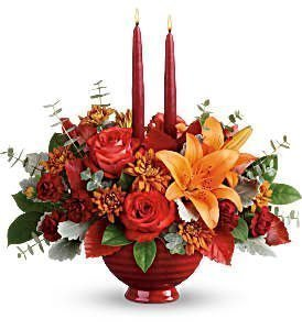 Two Candled Thanksgiving Arrangement
