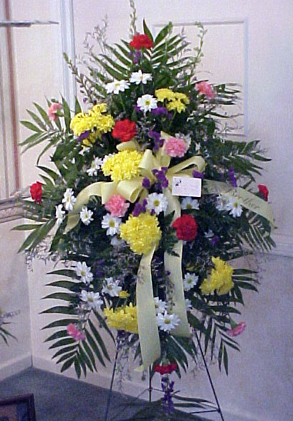 standing spray floral