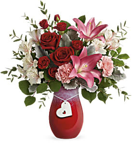 Charmed In Love valentine arrangement