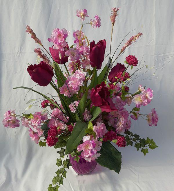 lavender silk arrangement