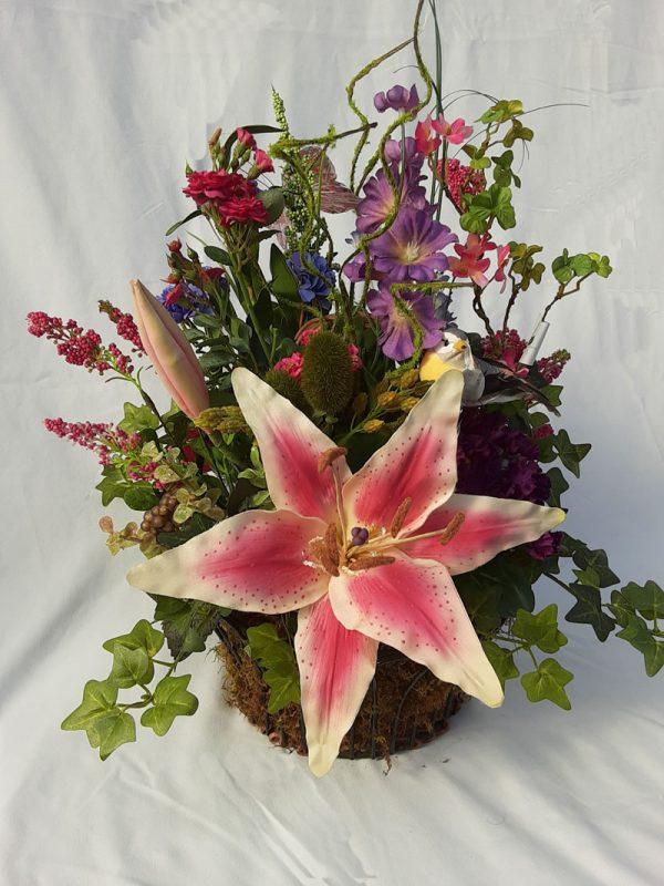 star gazer silk arrangement