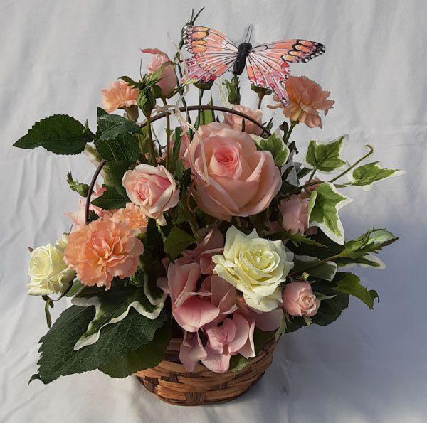 pink butterfly arrangement