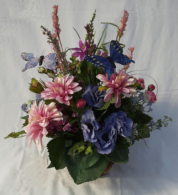 blue butterfly arrangement