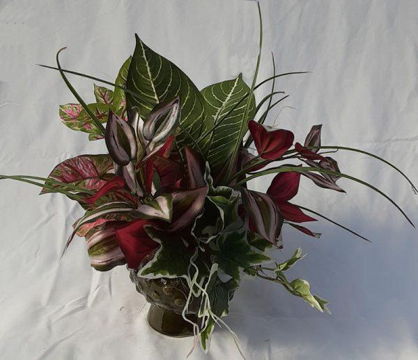 silk foliage arrangement